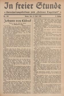 """In Freier Stunde : Unterhaltungsbeilage zum """"Posener Tageblatt"""". Jg.3, Nr. 159 (14 Juli 1929)"""