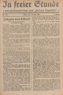 """In Freier Stunde : Unterhaltungsbeilage zum """"Posener Tageblatt"""". Jg.3, Nr. 160 (16 Juli 1929)"""