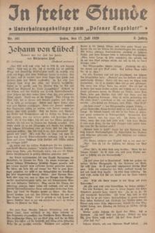"""In Freier Stunde : Unterhaltungsbeilage zum """"Posener Tageblatt"""". Jg.3, Nr. 161 (17 Juli 1929)"""
