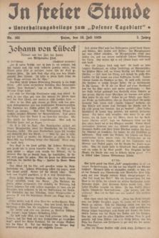 """In Freier Stunde : Unterhaltungsbeilage zum """"Posener Tageblatt"""". Jg.3, Nr. 162 (18 Juli 1929)"""