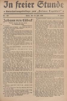 """In Freier Stunde : Unterhaltungsbeilage zum """"Posener Tageblatt"""". Jg.3, Nr. 163 (19 Juli 1929)"""