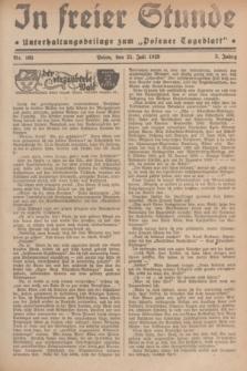 """In Freier Stunde : Unterhaltungsbeilage zum """"Posener Tageblatt"""". Jg.3, Nr. 165 (21 Juli 1929)"""