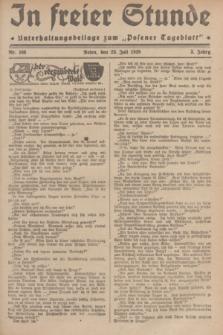 """In Freier Stunde : Unterhaltungsbeilage zum """"Posener Tageblatt"""". Jg.3, Nr. 166 (23 Juli 1929)"""