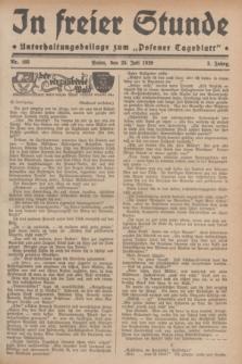 """In Freier Stunde : Unterhaltungsbeilage zum """"Posener Tageblatt"""". Jg.3, Nr. 168 (25 Juli 1929)"""