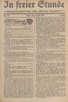 """In Freier Stunde : Unterhaltungsbeilage zum """"Posener Tageblatt"""". Jg.3, Nr. 169 (26 Juli 1929)"""