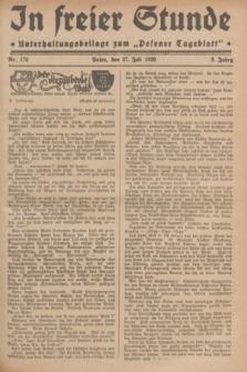 """In Freier Stunde : Unterhaltungsbeilage zum """"Posener Tageblatt"""". Jg.3, Nr. 170 (27 Juli 1929)"""