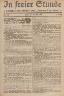 """In Freier Stunde : Unterhaltungsbeilage zum """"Posener Tageblatt"""". Jg.3, Nr. 172 (30 Juli 1929)"""