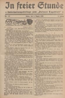 """In Freier Stunde : Unterhaltungsbeilage zum """"Posener Tageblatt"""". Jg.3, Nr. 175 (2 August 1929)"""