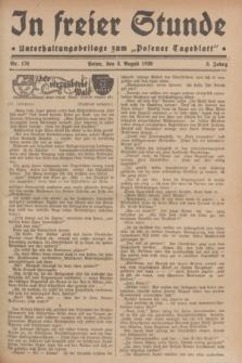 """In Freier Stunde : Unterhaltungsbeilage zum """"Posener Tageblatt"""". Jg.3, Nr. 176 (3 August 1929)"""