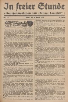 """In Freier Stunde : Unterhaltungsbeilage zum """"Posener Tageblatt"""". Jg.3, Nr. 177 (4 August 1929)"""