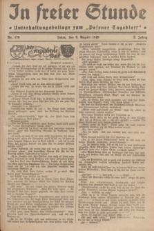 """In Freier Stunde : Unterhaltungsbeilage zum """"Posener Tageblatt"""". Jg.3, Nr. 178 (6 August 1929)"""