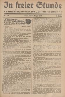 """In Freier Stunde : Unterhaltungsbeilage zum """"Posener Tageblatt"""". Jg.3, Nr. 179 (7 August 1929)"""