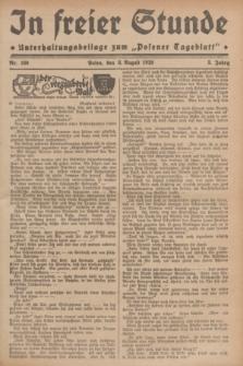 """In Freier Stunde : Unterhaltungsbeilage zum """"Posener Tageblatt"""". Jg.3, Nr. 180 (8 August 1929)"""