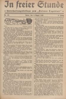 """In Freier Stunde : Unterhaltungsbeilage zum """"Posener Tageblatt"""". Jg.3, Nr. 181 (9 August 1929)"""