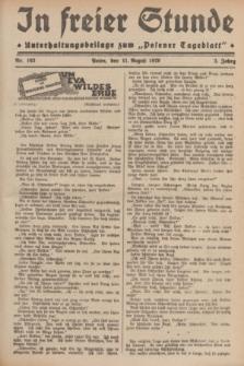 """In Freier Stunde : Unterhaltungsbeilage zum """"Posener Tageblatt"""". Jg.3, Nr. 183 (11 August 1929)"""