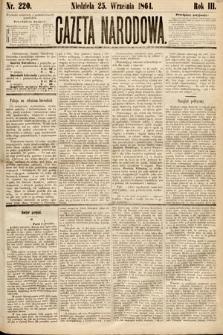 Gazeta Narodowa. 1864, nr220