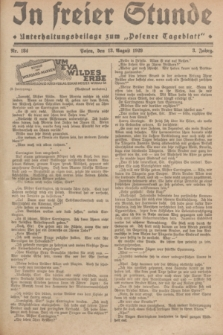 """In Freier Stunde : Unterhaltungsbeilage zum """"Posener Tageblatt"""". Jg.3, Nr. 184 (13 August 1929)"""