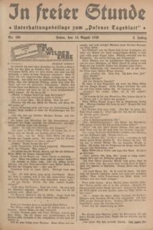 """In Freier Stunde : Unterhaltungsbeilage zum """"Posener Tageblatt"""". Jg.3, Nr. 185 (14 August 1929)"""