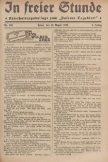 """In Freier Stunde : Unterhaltungsbeilage zum """"Posener Tageblatt"""". Jg.3, Nr. 186 (15 August 1929)"""