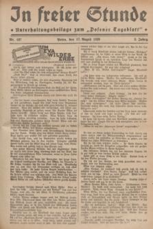 """In Freier Stunde : Unterhaltungsbeilage zum """"Posener Tageblatt"""". Jg.3, Nr. 187 (17 August 1929)"""