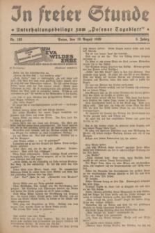 """In Freier Stunde : Unterhaltungsbeilage zum """"Posener Tageblatt"""". Jg.3, Nr. 188 (18 August 1929)"""