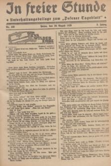 """In Freier Stunde : Unterhaltungsbeilage zum """"Posener Tageblatt"""". Jg.3, Nr. 189 (20 August 1929)"""