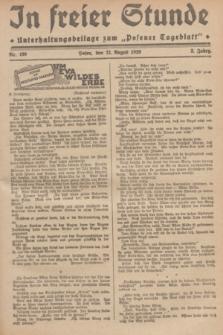 """In Freier Stunde : Unterhaltungsbeilage zum """"Posener Tageblatt"""". Jg.3, Nr. 190 (21 August 1929)"""