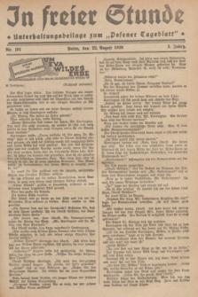 """In Freier Stunde : Unterhaltungsbeilage zum """"Posener Tageblatt"""". Jg.3, Nr. 191 (22 August 1929)"""
