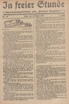 """In Freier Stunde : Unterhaltungsbeilage zum """"Posener Tageblatt"""". Jg.3, Nr. 196 (28 August 1929)"""