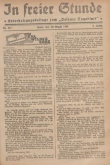 """In Freier Stunde : Unterhaltungsbeilage zum """"Posener Tageblatt"""". Jg.3, Nr. 197 (29 August 1929)"""