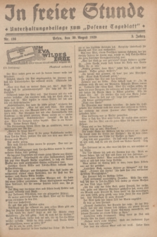 """In Freier Stunde : Unterhaltungsbeilage zum """"Posener Tageblatt"""". Jg.3, Nr. 198 (30 August 1929)"""