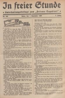"""In Freier Stunde : Unterhaltungsbeilage zum """"Posener Tageblatt"""". Jg.3, Nr. 200 (1 September 1929)"""