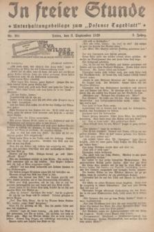 """In Freier Stunde : Unterhaltungsbeilage zum """"Posener Tageblatt"""". Jg.3, Nr. 201 (3 September 1929)"""