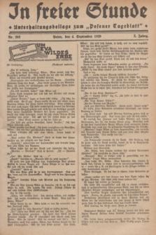 """In Freier Stunde : Unterhaltungsbeilage zum """"Posener Tageblatt"""". Jg.3, Nr. 202 (4 September 1929)"""