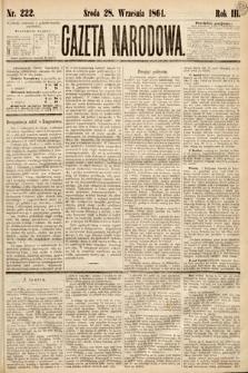 Gazeta Narodowa. 1864, nr222