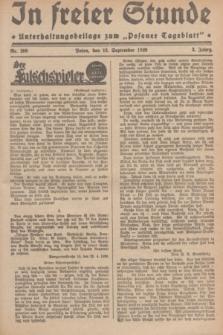 """In Freier Stunde : Unterhaltungsbeilage zum """"Posener Tageblatt"""". Jg.3, Nr. 209 (12 September 1929)"""