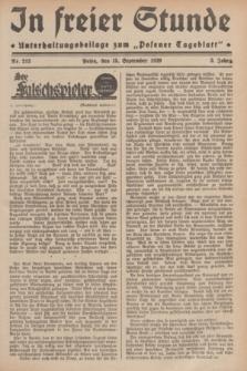 """In Freier Stunde : Unterhaltungsbeilage zum """"Posener Tageblatt"""". Jg.3, Nr. 212 (15 September 1929)"""