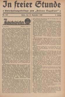 """In Freier Stunde : Unterhaltungsbeilage zum """"Posener Tageblatt"""". Jg.3, Nr. 213 (17 September 1929)"""