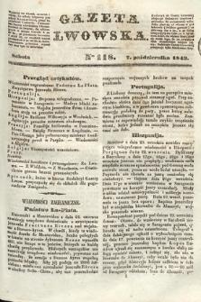 Gazeta Lwowska. 1843, nr 118