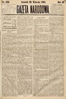Gazeta Narodowa. 1864, nr223