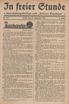 """In Freier Stunde : Unterhaltungsbeilage zum """"Posener Tageblatt"""". Jg.3, Nr. 214 (18 September 1929)"""