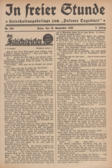 """In Freier Stunde : Unterhaltungsbeilage zum """"Posener Tageblatt"""". Jg.3, Nr. 215 (19 September 1929)"""