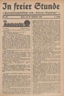 """In Freier Stunde : Unterhaltungsbeilage zum """"Posener Tageblatt"""". Jg.3, Nr. 216 (20 September 1929)"""