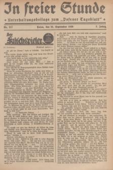 """In Freier Stunde : Unterhaltungsbeilage zum """"Posener Tageblatt"""". Jg.3, Nr. 217 (21 September 1929)"""