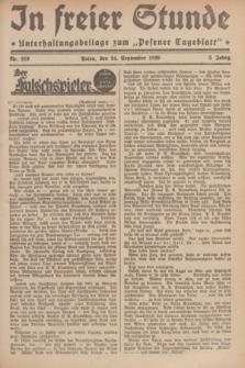 """In Freier Stunde : Unterhaltungsbeilage zum """"Posener Tageblatt"""". Jg.3, Nr. 219 (24 September 1929)"""