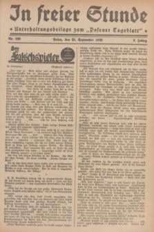 """In Freier Stunde : Unterhaltungsbeilage zum """"Posener Tageblatt"""". Jg.3, Nr. 220 (25 September 1929)"""