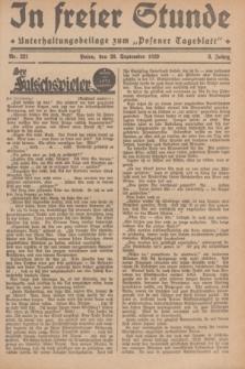"""In Freier Stunde : Unterhaltungsbeilage zum """"Posener Tageblatt"""". Jg.3, Nr. 221 (26 September 1929)"""