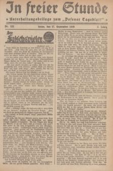 """In Freier Stunde : Unterhaltungsbeilage zum """"Posener Tageblatt"""". Jg.3, Nr. 222 (27 September 1929)"""