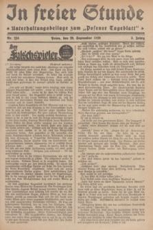 """In Freier Stunde : Unterhaltungsbeilage zum """"Posener Tageblatt"""". Jg.3, Nr. 224 (29 September 1929)"""