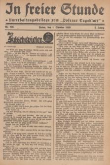 """In Freier Stunde : Unterhaltungsbeilage zum """"Posener Tageblatt"""". Jg.3, Nr. 225 (1 Oktober 1929)"""